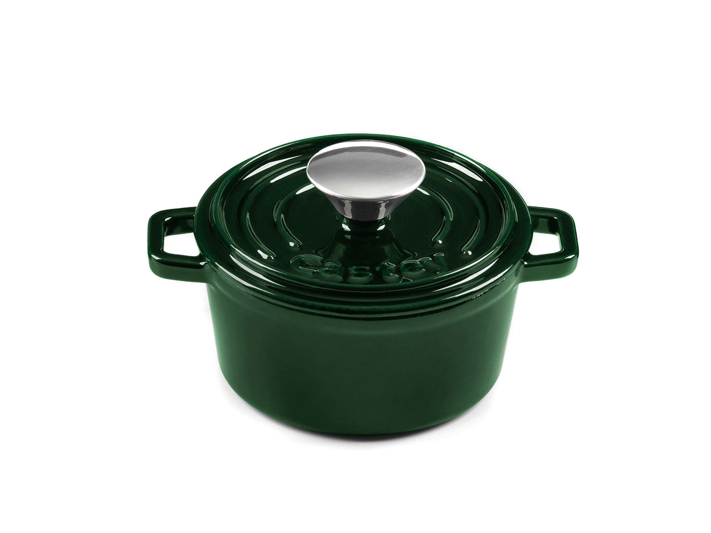 CASTEY Gusseisen Topf COCOTTE 14 cm JADE Emaille