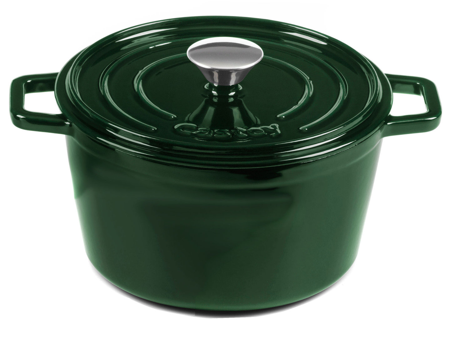 CASTEY Gusseisen Topf COCOTTE 22 cm JADE Emaille
