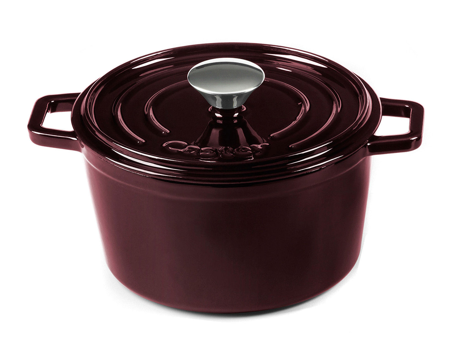 CASTEY Gusseisen Topf COCOTTE 20 cm PURPUR Emaille