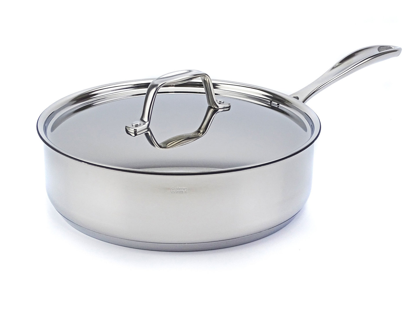 BEKA deep frypan CHEF 24 cm uncoated with lid stainless steel