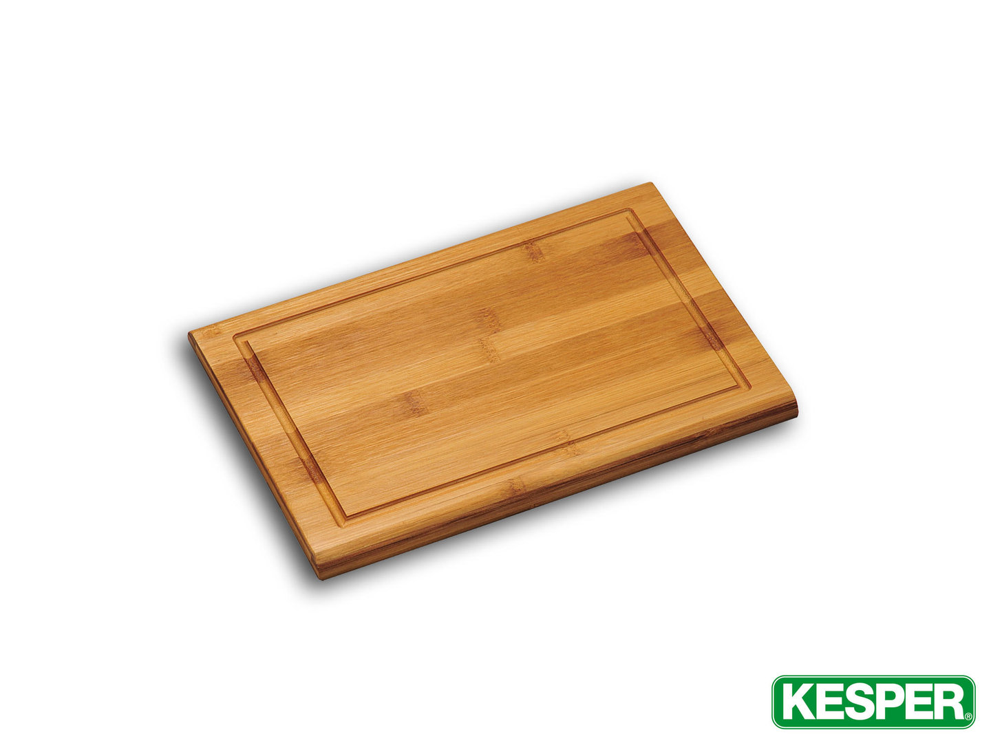 KESPER bamboo cutting board 31 x 21 x 1,6 cm with juice rim