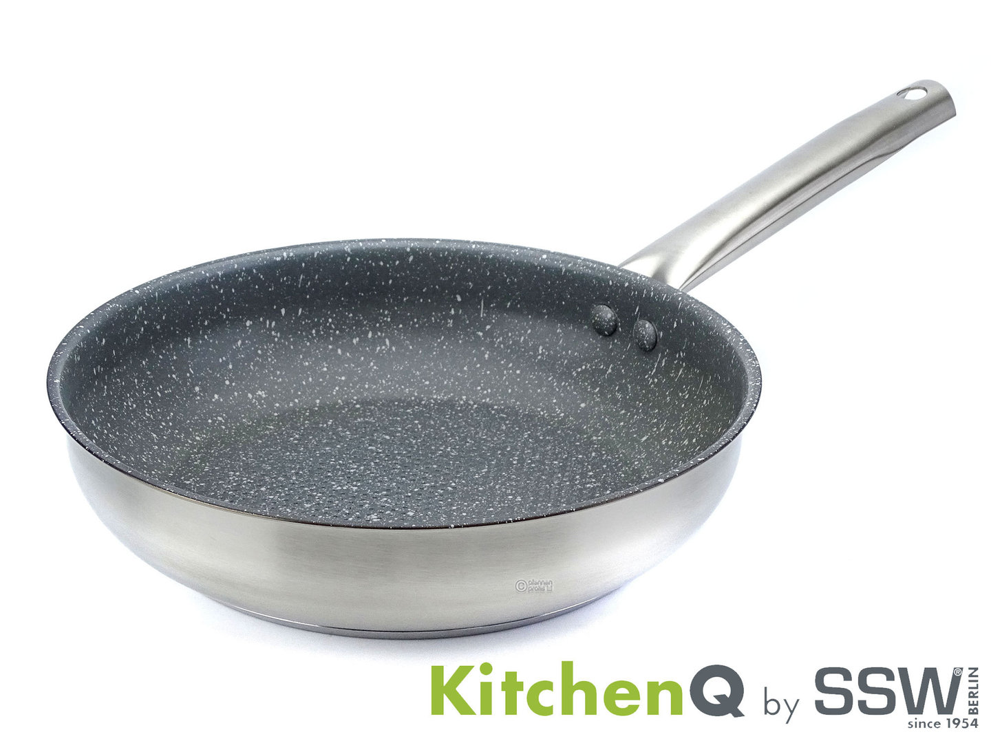 SSW frypan PROFI STEEL 24 cm stainless steel non-stick induction