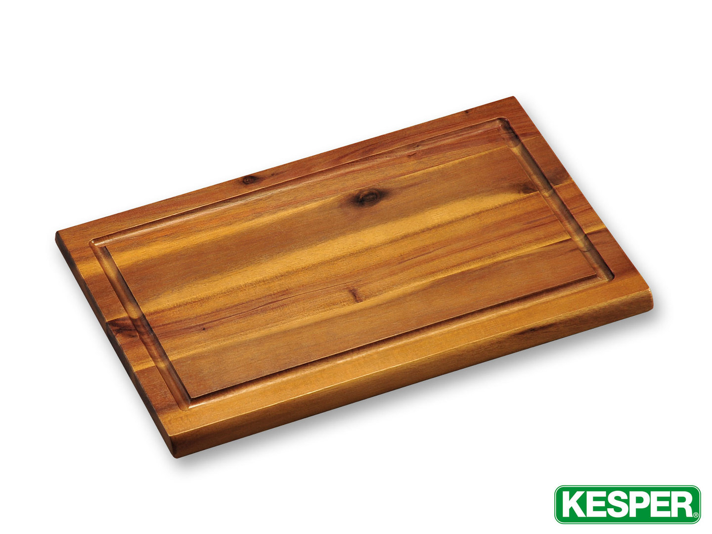 KESPER acacia wood cutting board 32 x 21 x 1,5 cm with juice rim
