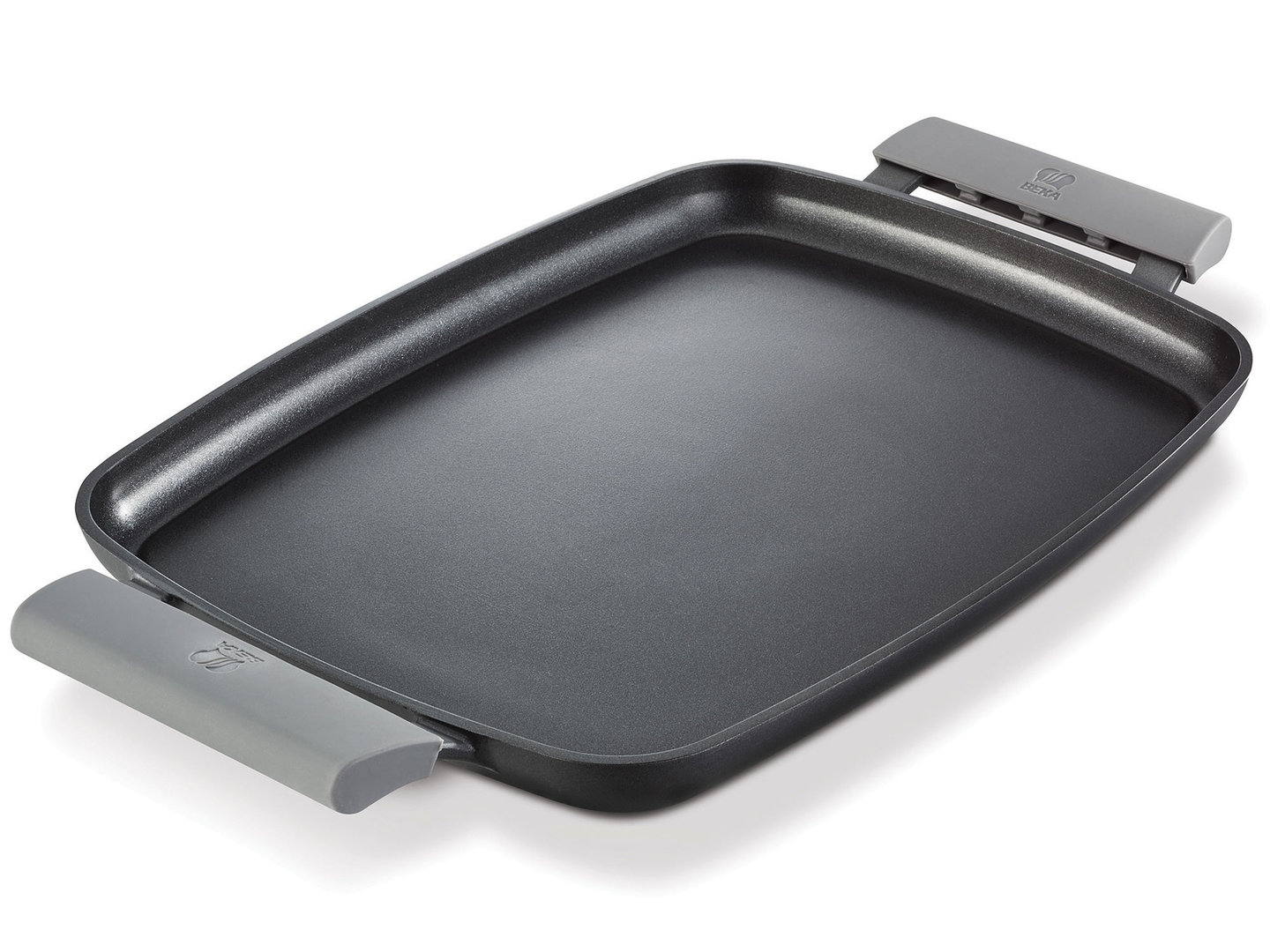 BEKA flat cast alu Teppanyaki griddle plate 47 cm with silicone handles induction