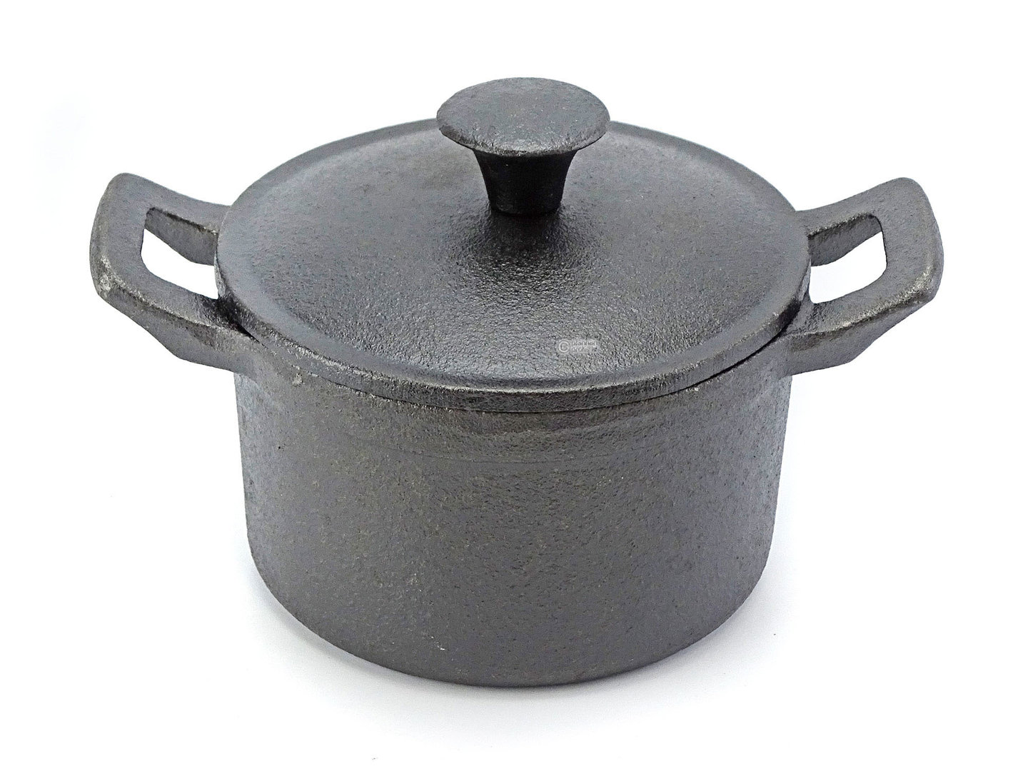 RONNEBY BRUK mini cast iron serving dish with lid RONDO 10 cm ROUND, pre-seasoned