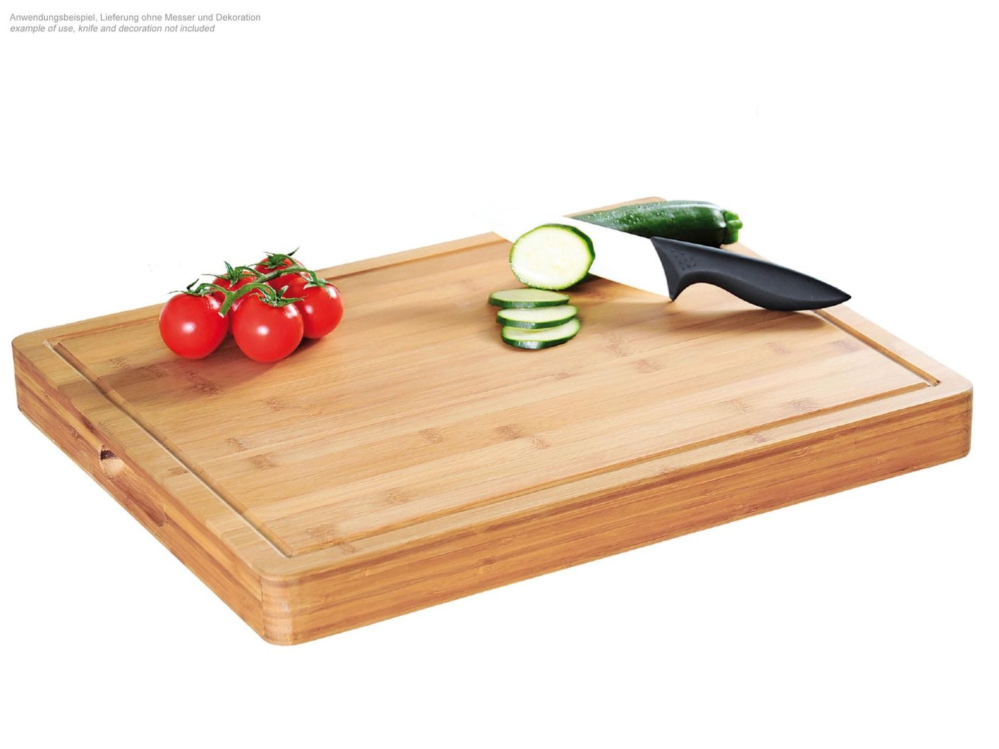 KESPER bamboo cutting board 50 x 40 x 5 cm with juice rim