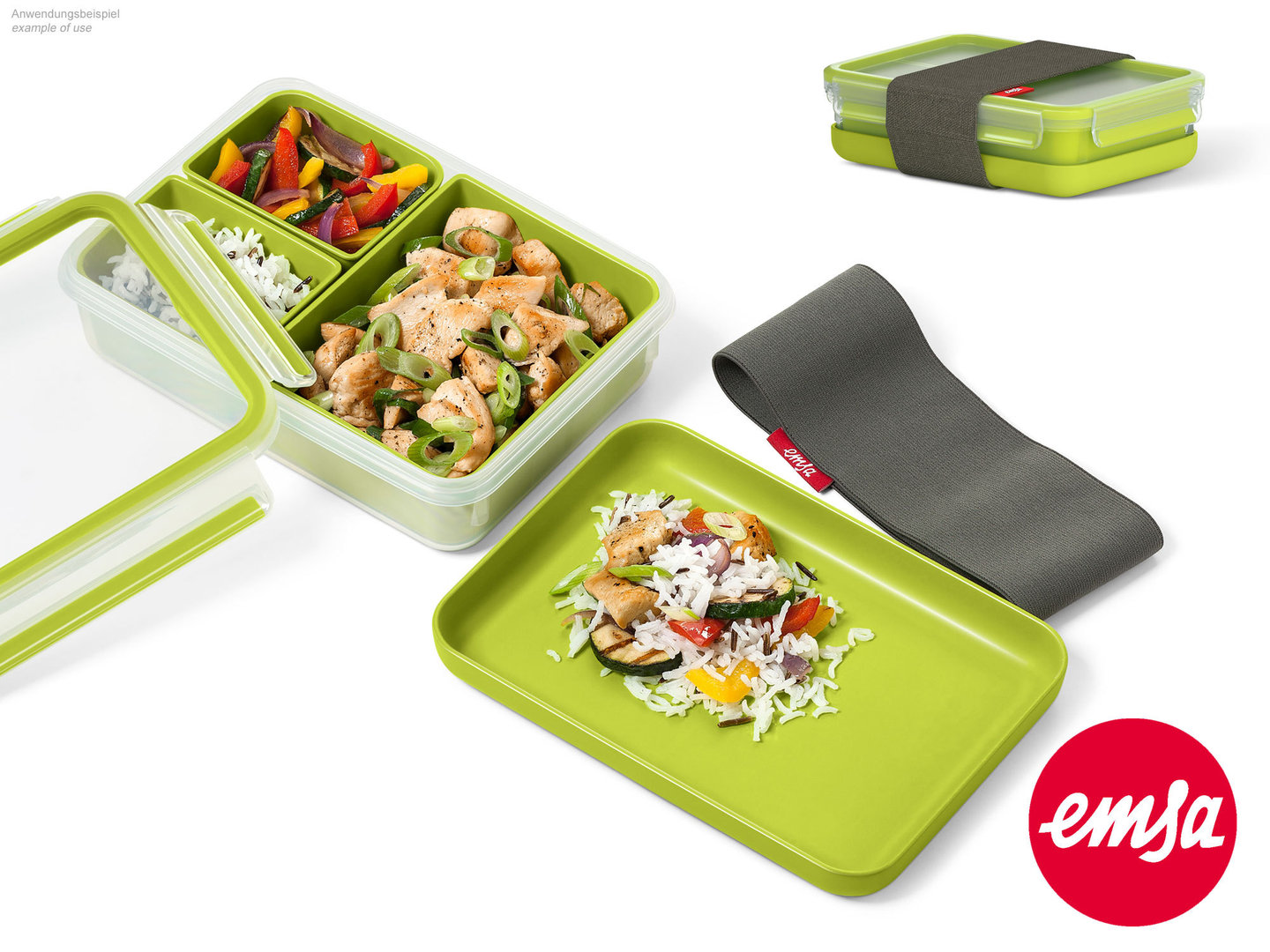 EMSA lunch box CLIP & GO food storange container to-go