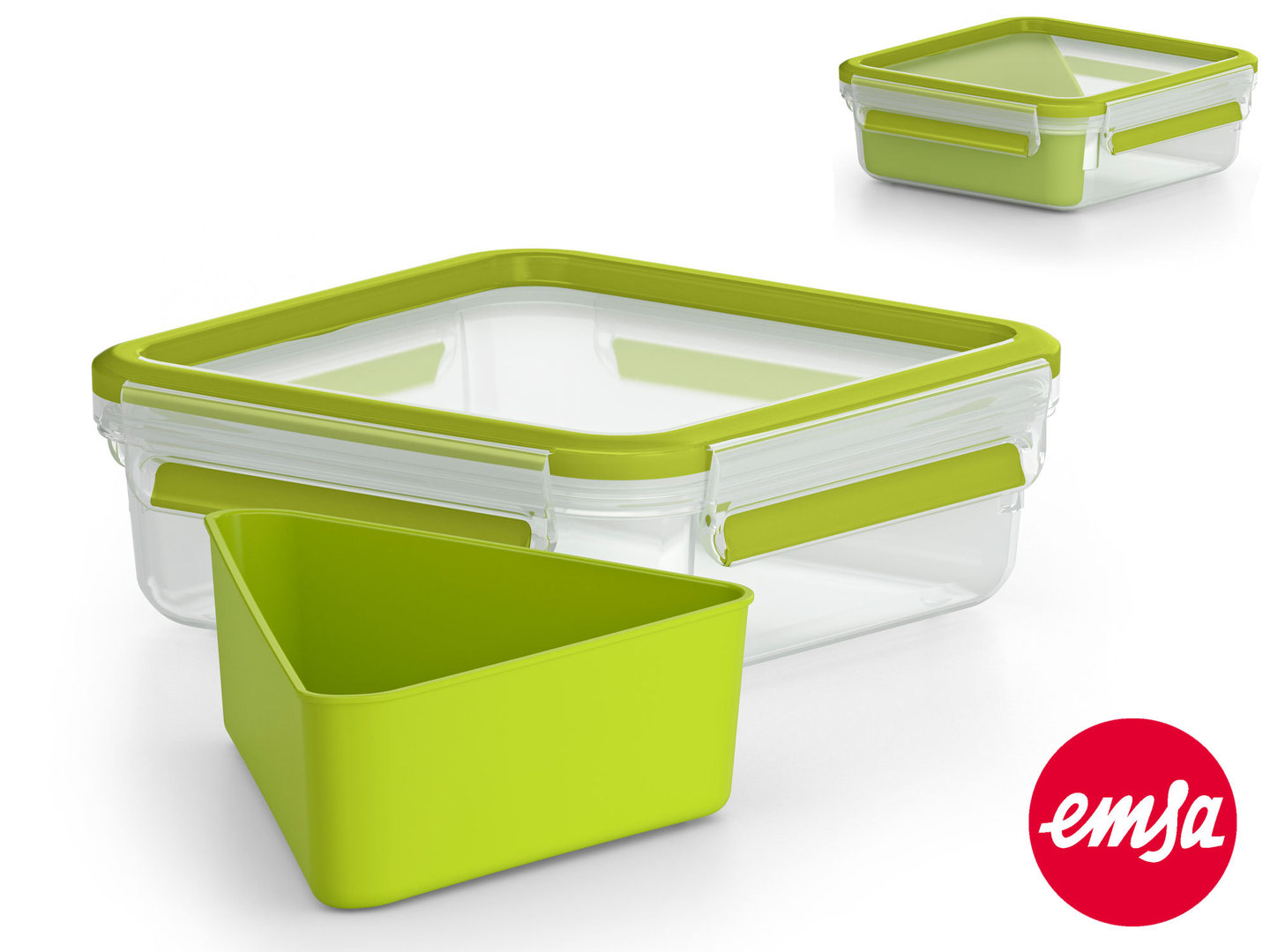EMSA sandwich box CLIP & GO food storange container to-go