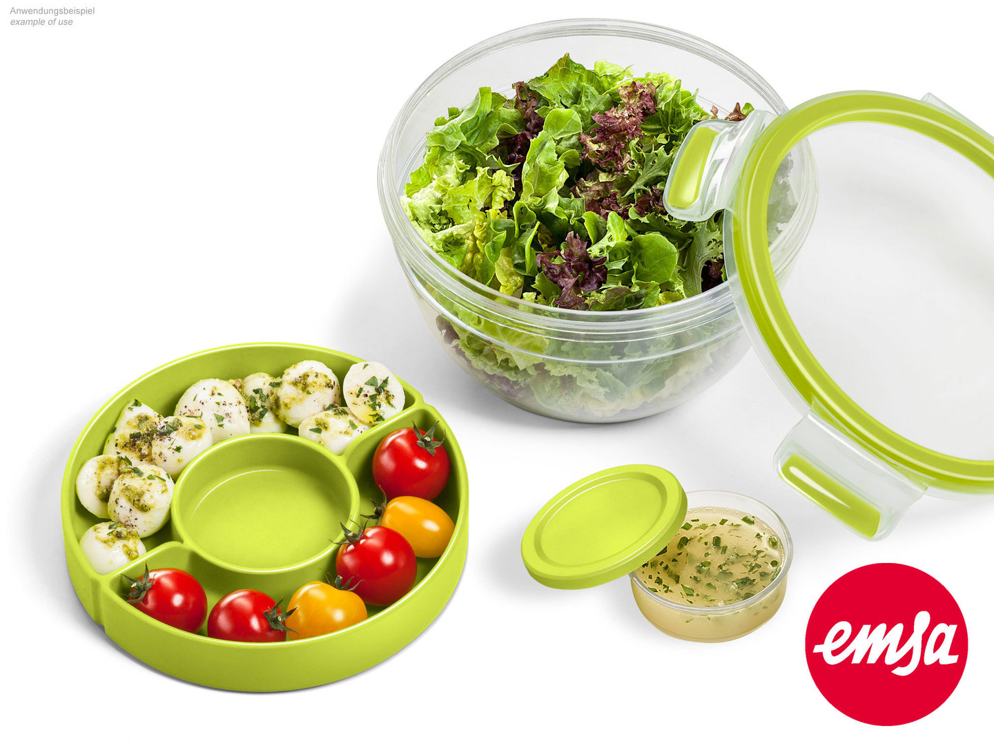 EMSA salad box CLIP & GO food storange container to-go