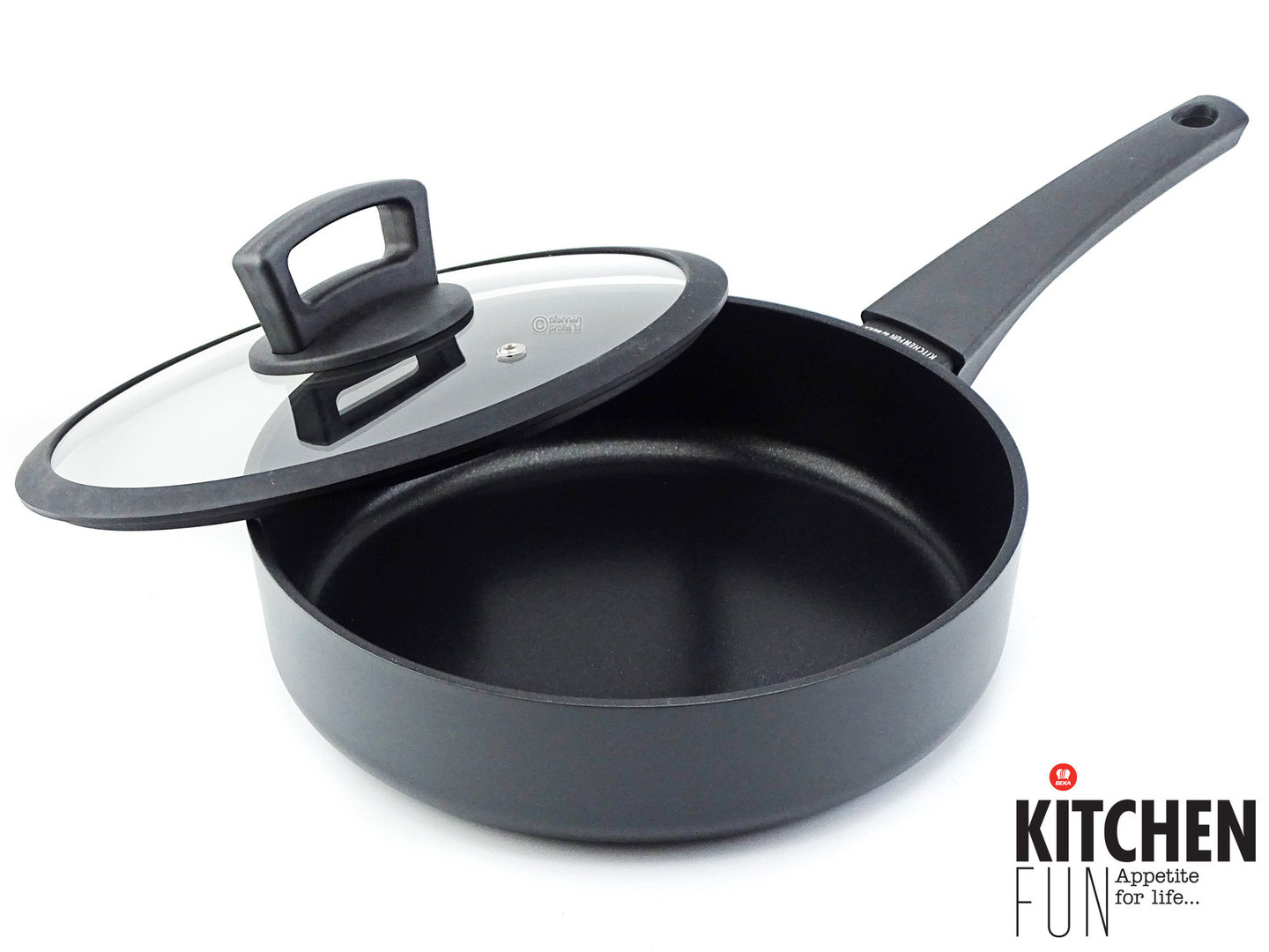 KITCHEN FUN non-stick deep frypan TWIST 24 cm with glass lid