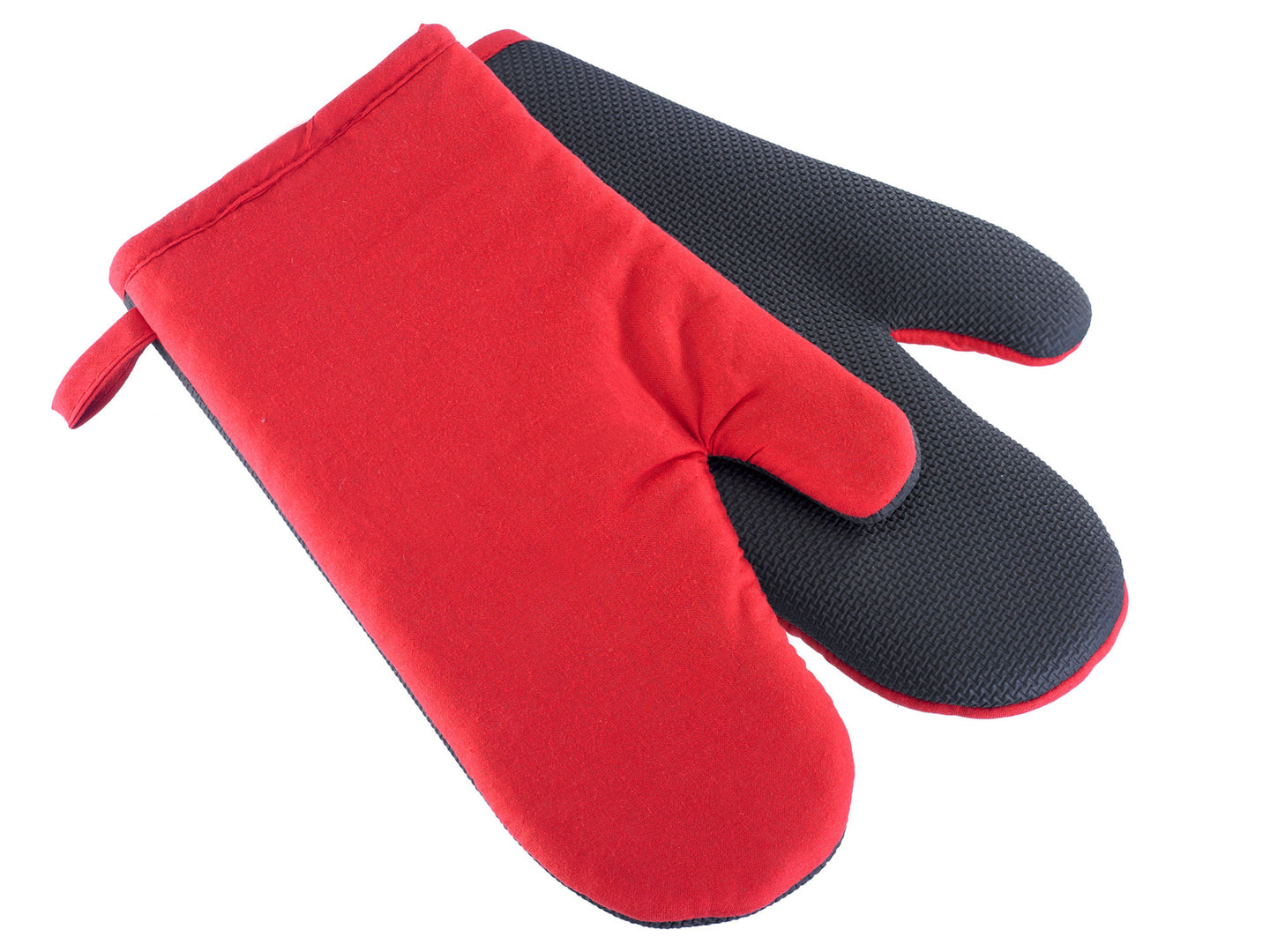 WESTMARK 2 kitchen gloves red-black slip-resistant Neoprene + cotton washable
