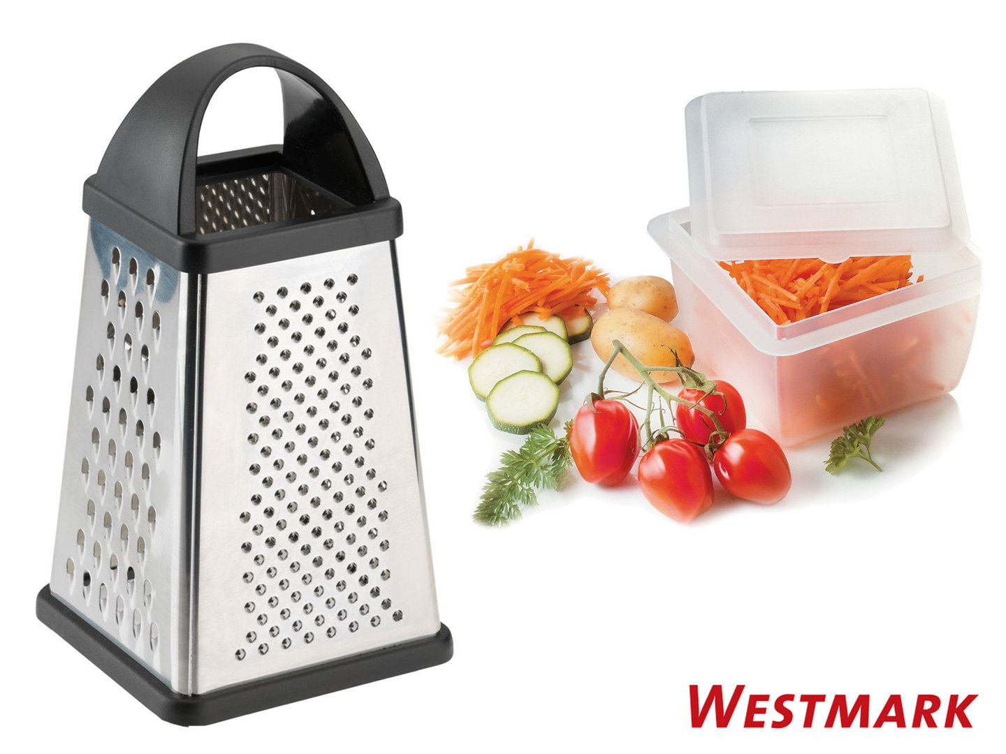 WESTMARK square grater with food collector