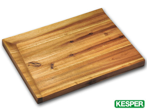 KESPER acacia wood cutting board with inclined surface 48 x 36,5 x 4 cm  | B-STOCK oG