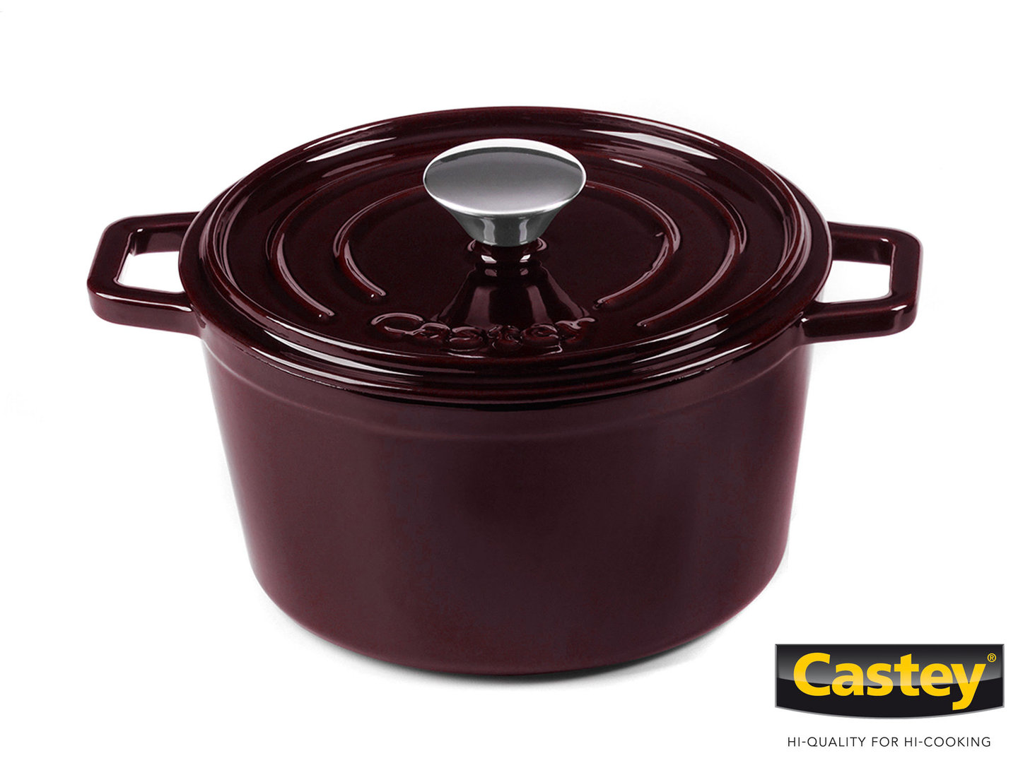 CASTEY Gusseisen Topf COCOTTE 18 cm PURPUR Emaille
