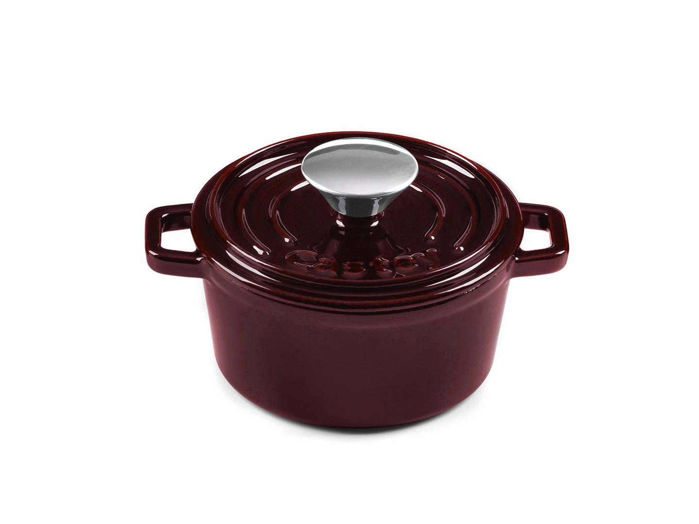 CASTEY Gusseisen Topf COCOTTE 14 cm PURPUR Emaille
