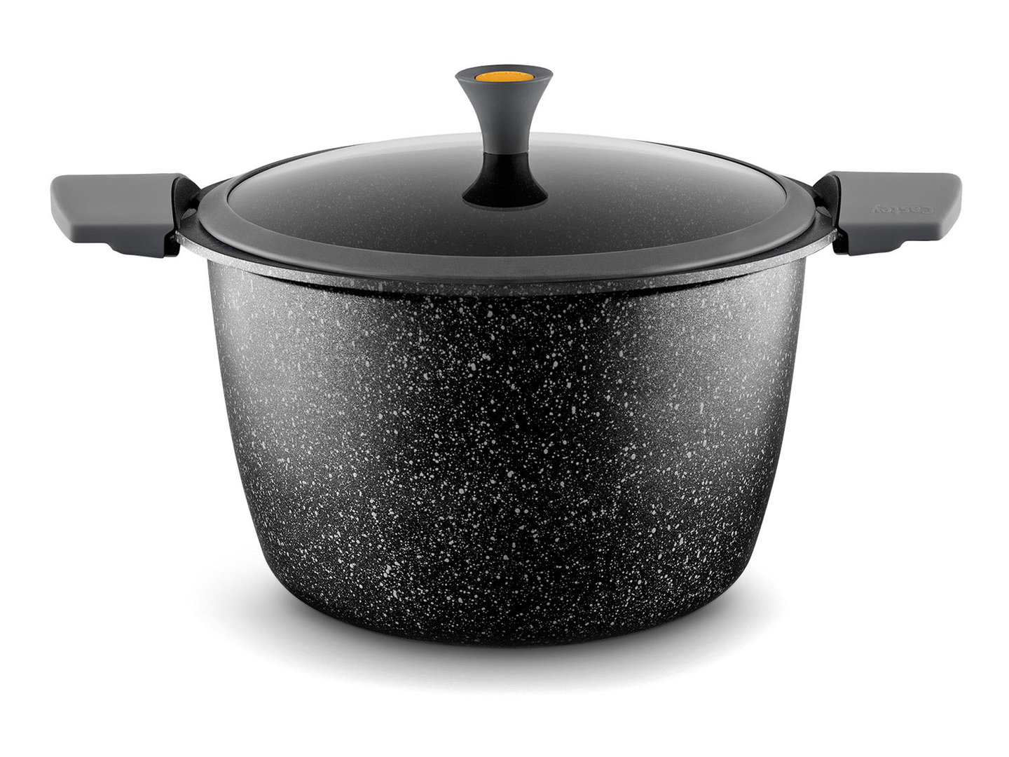 CASTEY cast aluminum stockpot VULCANO 26 cm with silicone handles