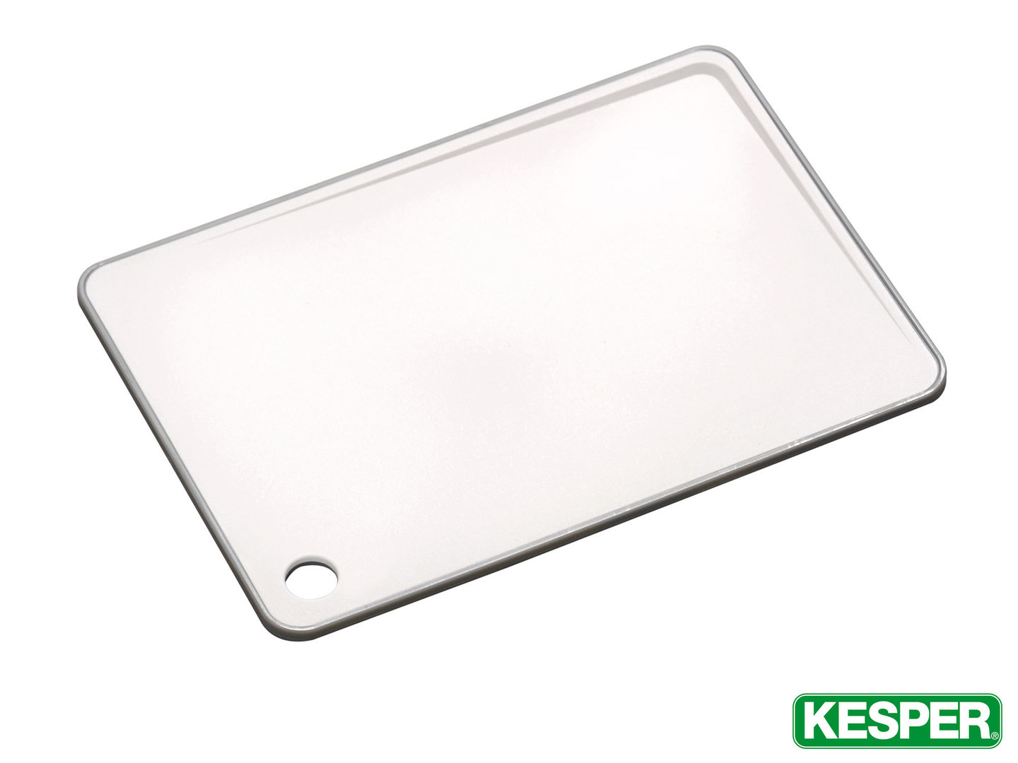 KESPER cutting board 29 x 20,5 cm with inclined cutting surface plastic WHITE