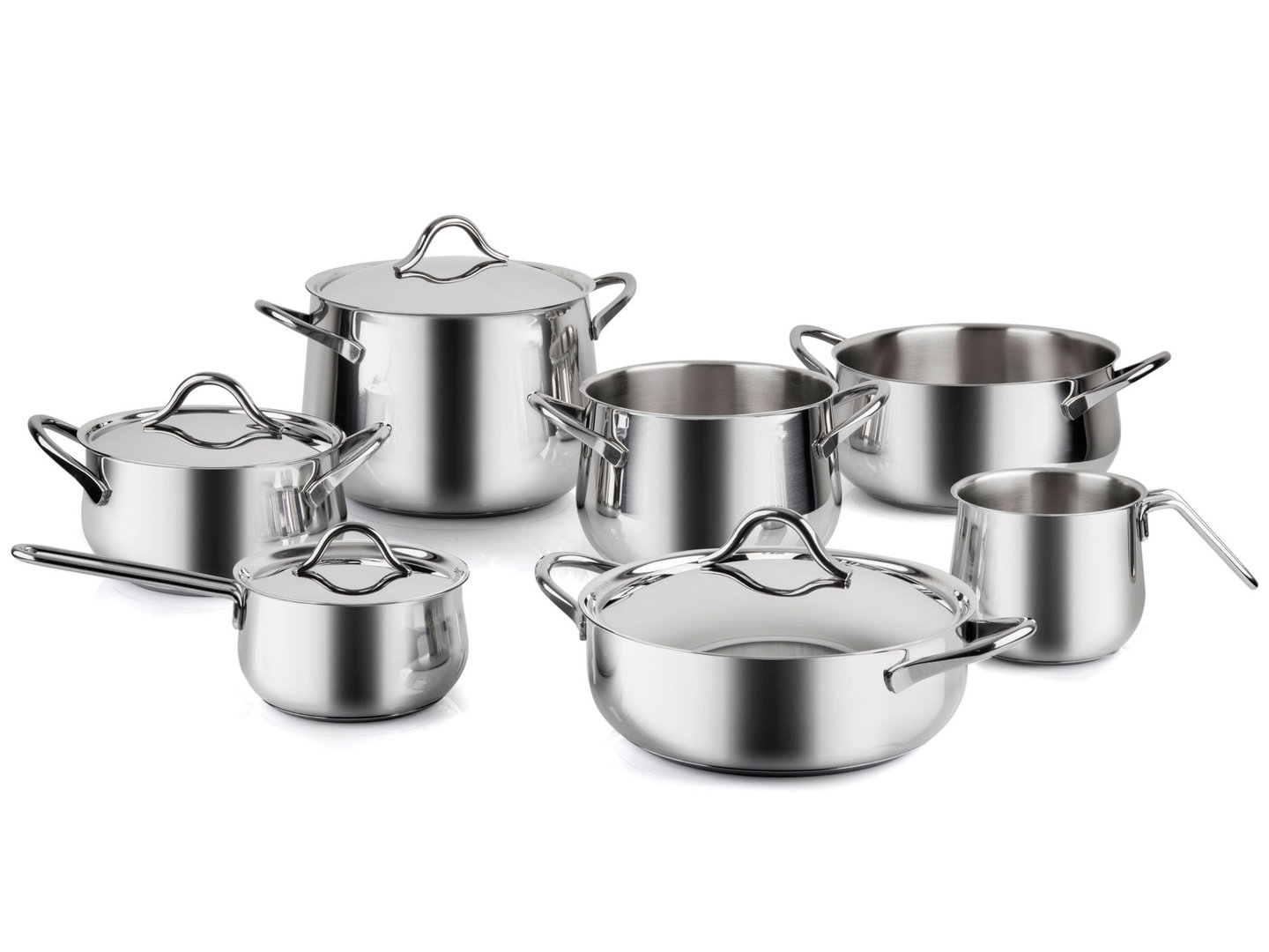 BARAZZONI stainless steel cookware set SAPORE ITALIANO 11 pieces