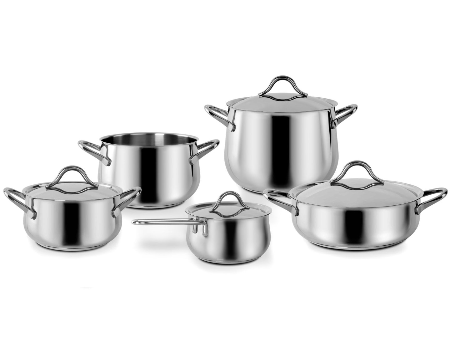 BARAZZONI stainless steel cookware set SAPORE ITALIANO 9 pieces
