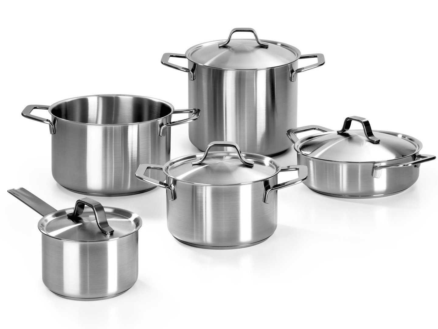 BARAZZONI stainless steel cookware set SATINÈ 9 pieces