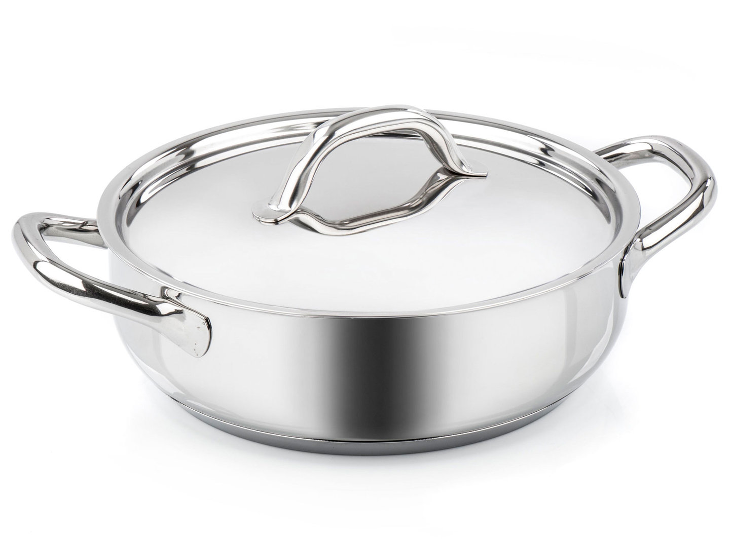 BARAZZONI shallow casserole CHEF LINE stainless steel 28 cm with lid 4.5 L
