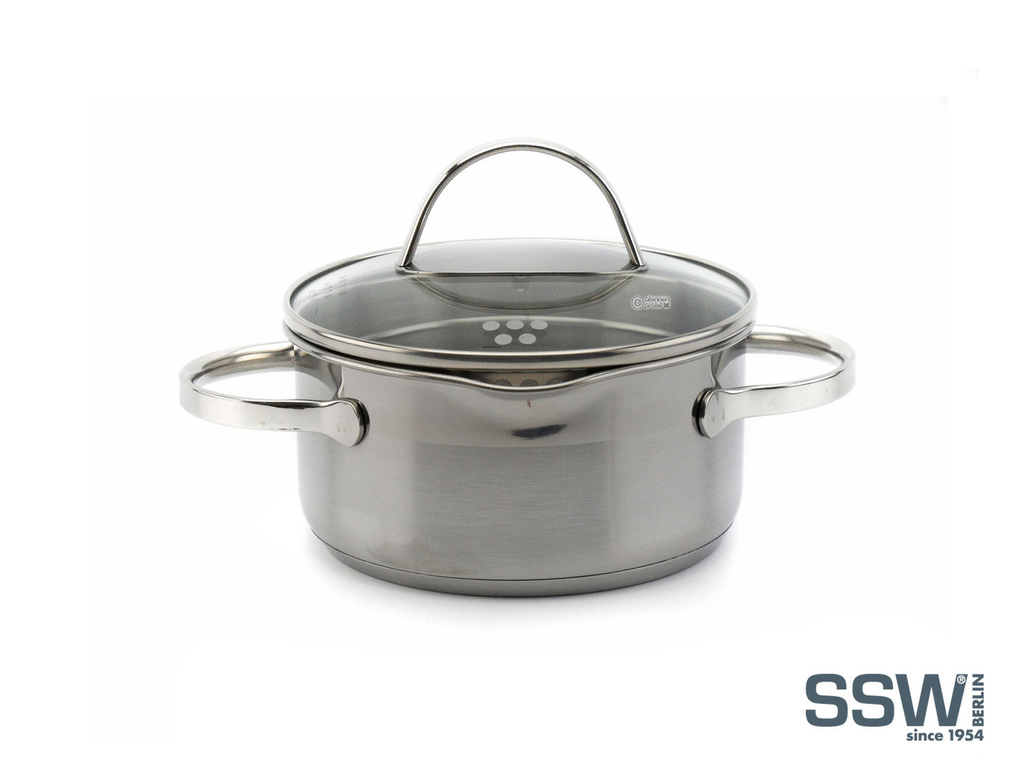 SSW easy straining casserole COMFORT 14 cm 1 L stainless steel induction
