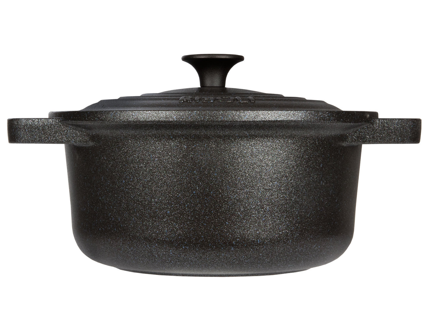 RISOLI cast aluminum casserole LE PIGNATTE 28 cm cocotte round induction with glass lid