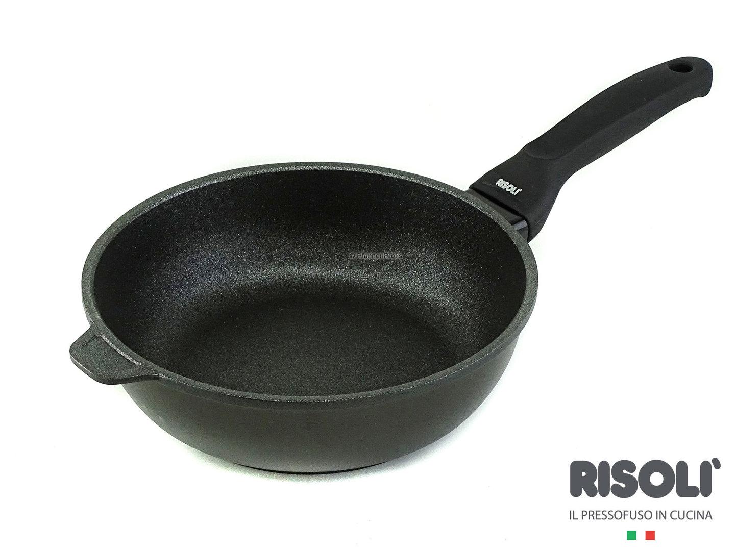 RISOLI cast aluminum deep fry pan BLACKplus induction 24 cm