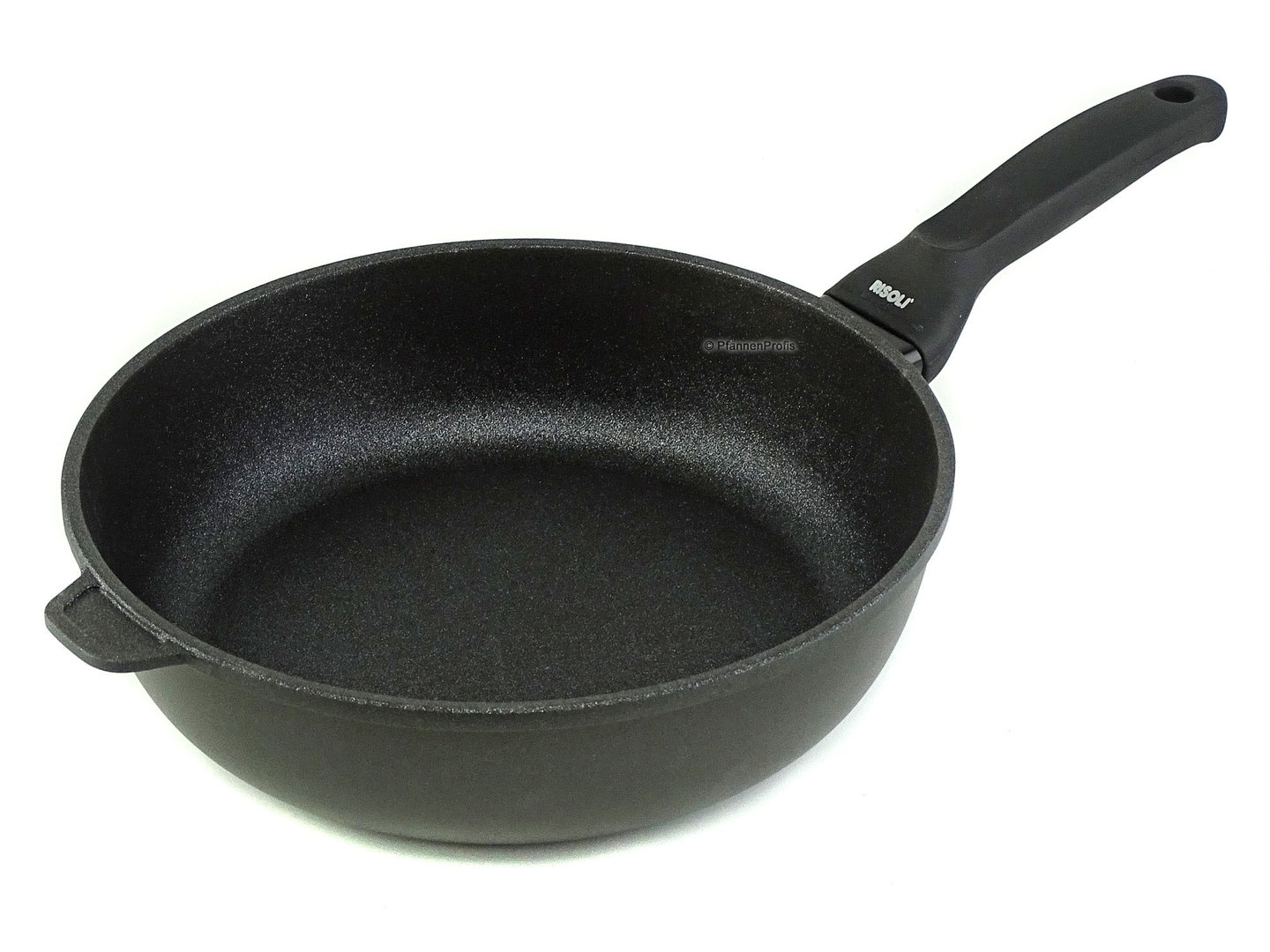 RISOLI cast aluminum deep fry pan BLACKplus induction 28 cm