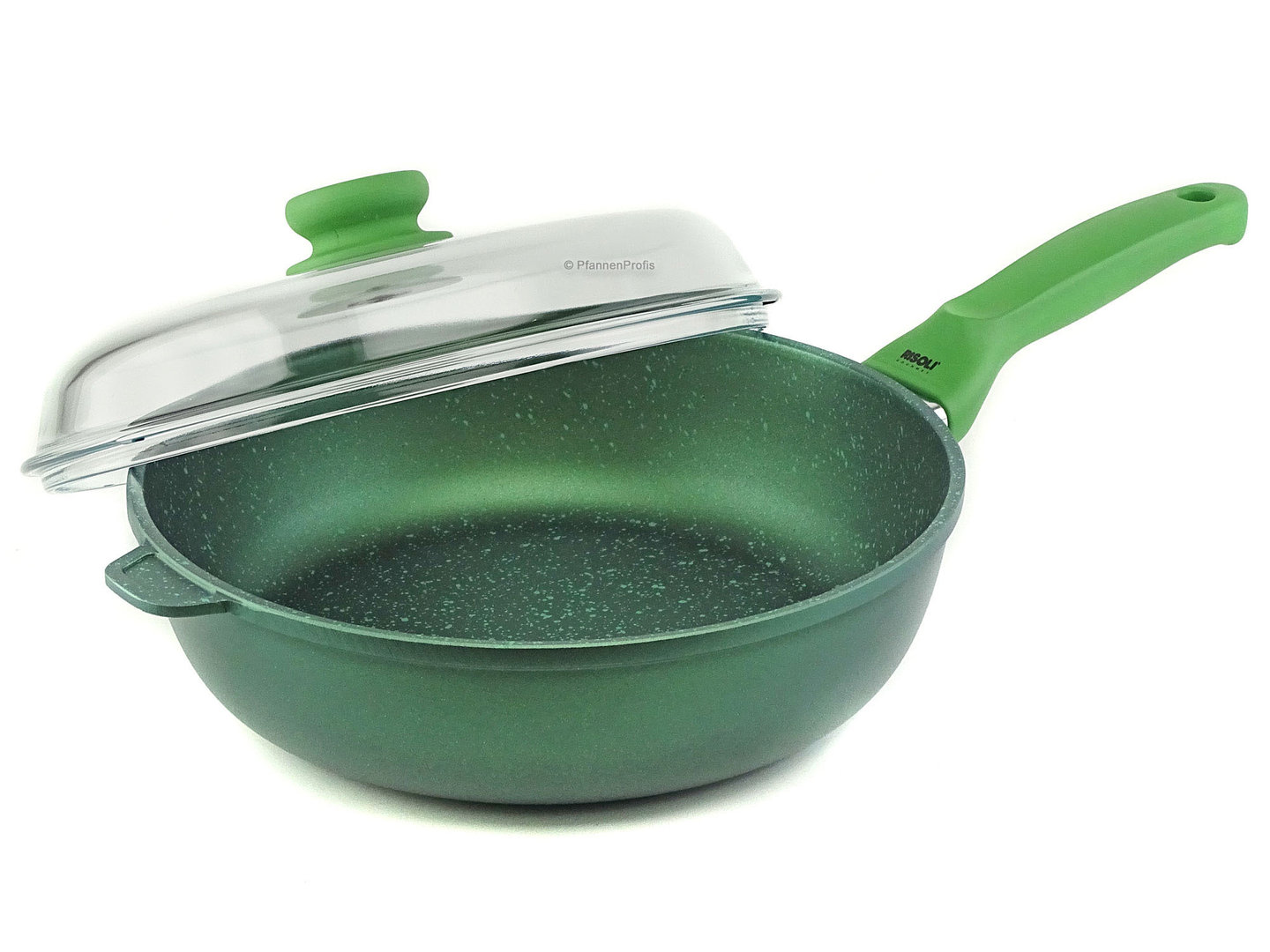 RISOLI cast aluminum deep fry pan DR. GREEN induction 28 cm with lid