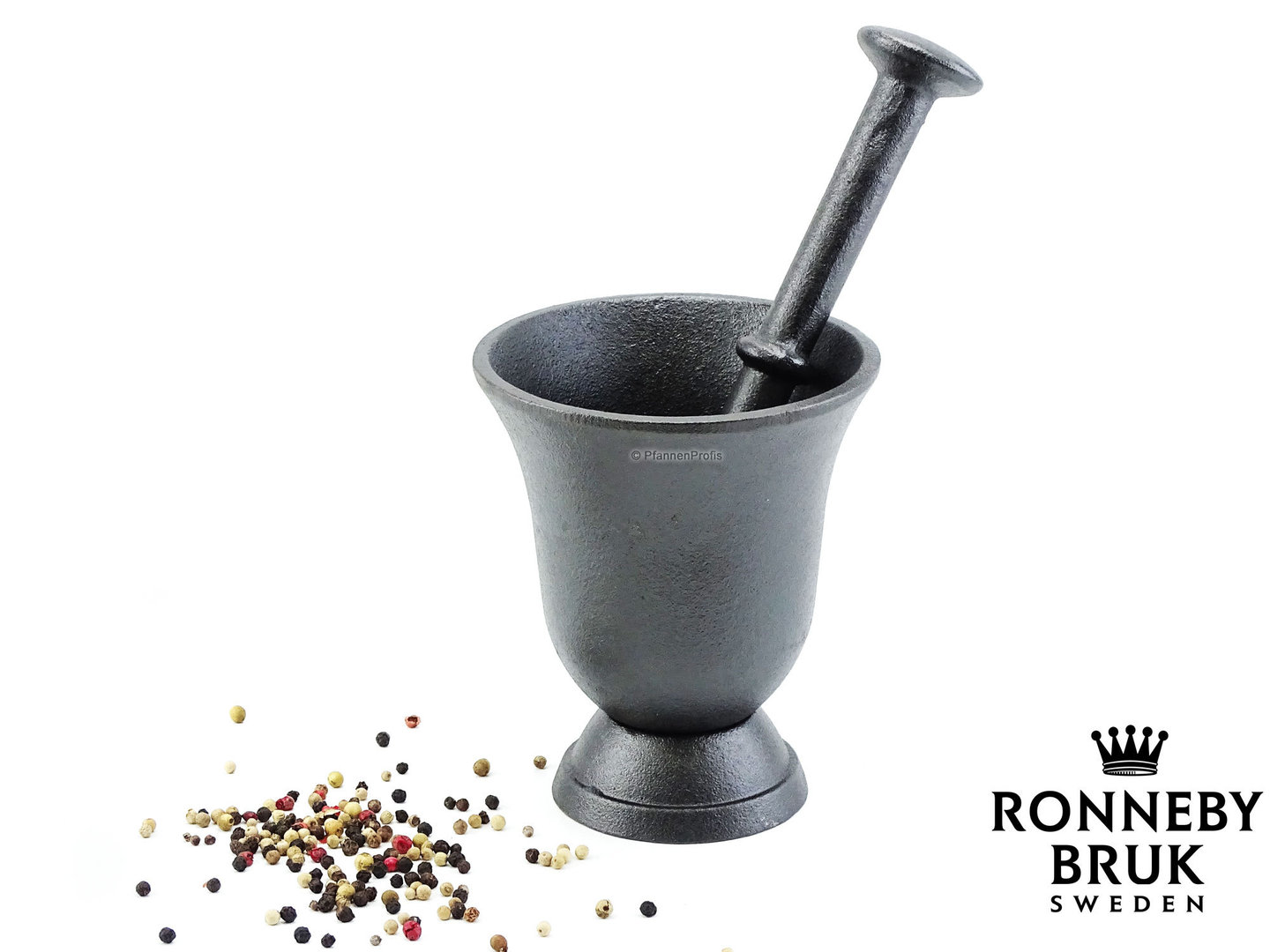 RONNEBY BRUK cast iron mortar with pestle