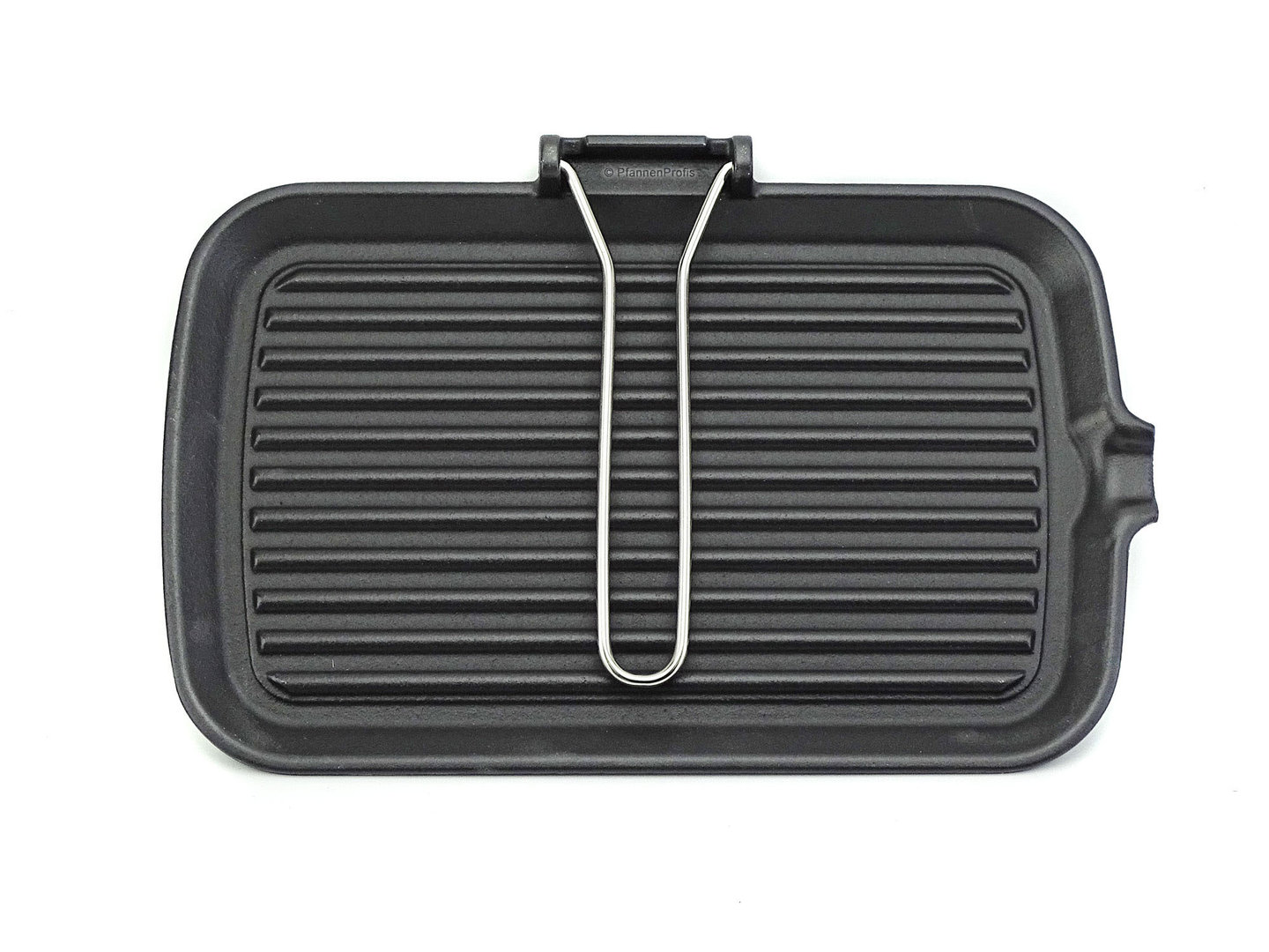 RISOLI cast iron grillpan 35 cm with foldaway handle