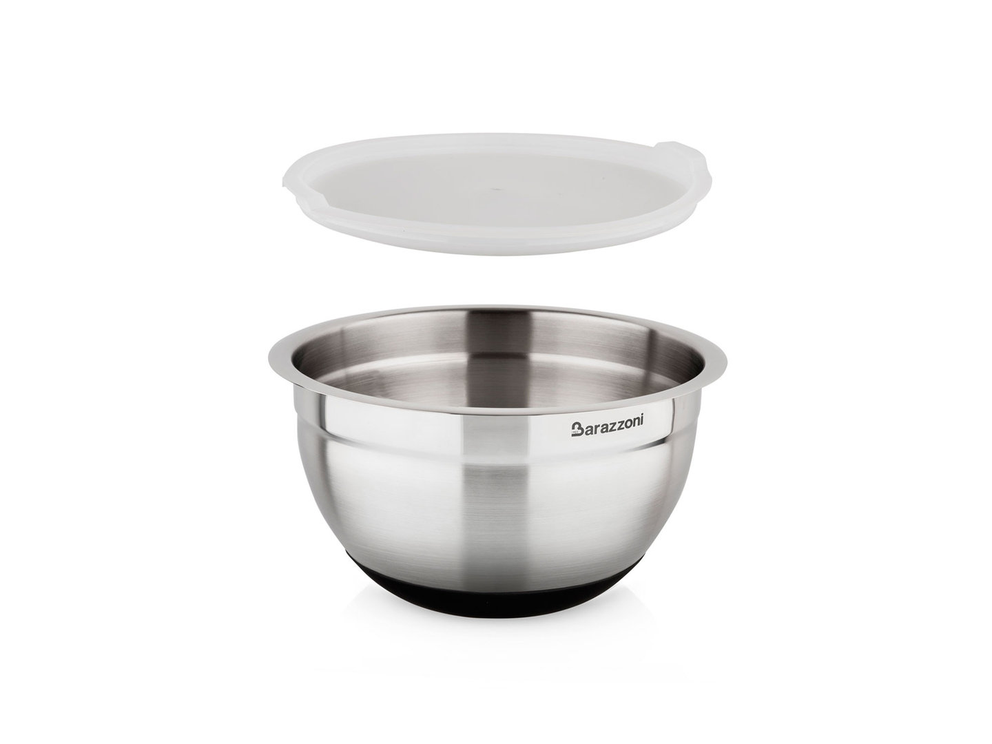 BARAZZONI slip-resistant mixing bowl stainless steel with lid 16 cm 1.5 liters