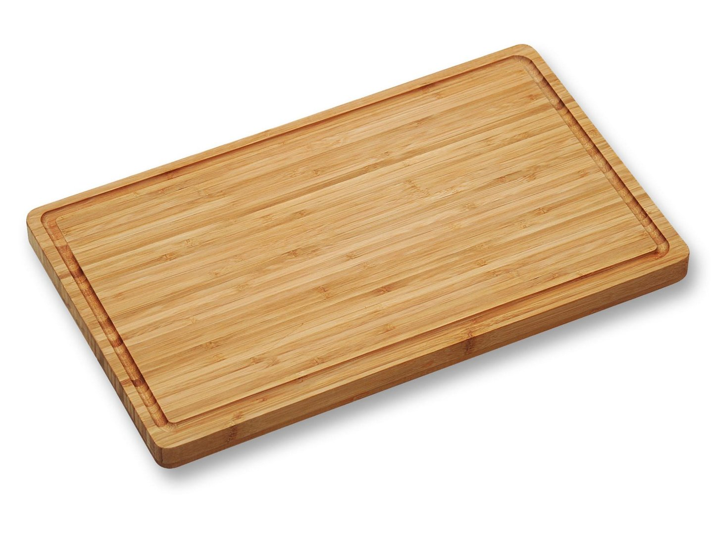KESPER bamboo cutting board 45 x 26.5 x 3 cm with juice rim and slip-resistant feet