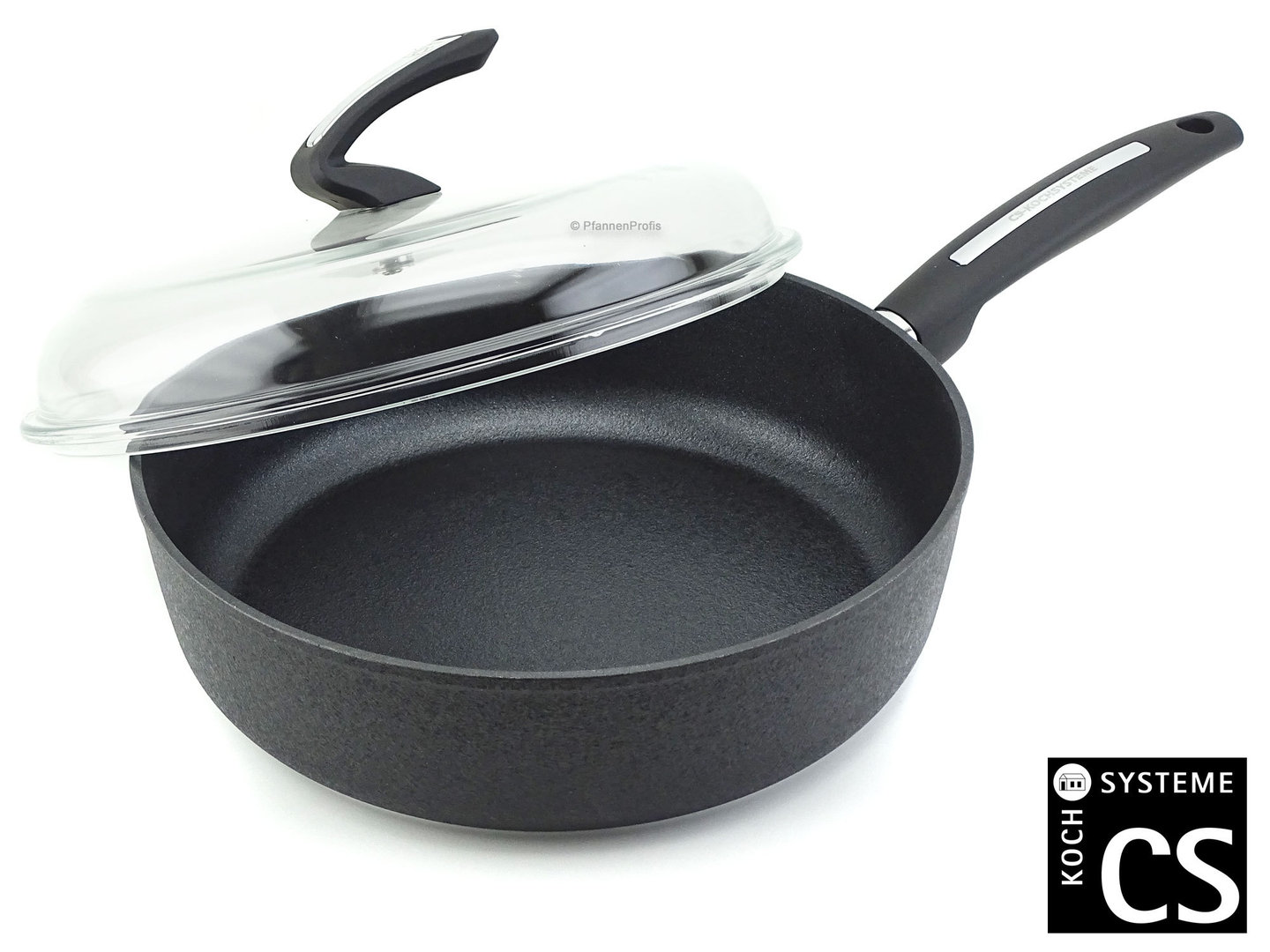 CS KOCHSYSTEME non-stick deep frypan MUENSTER 28 cm with glass lid