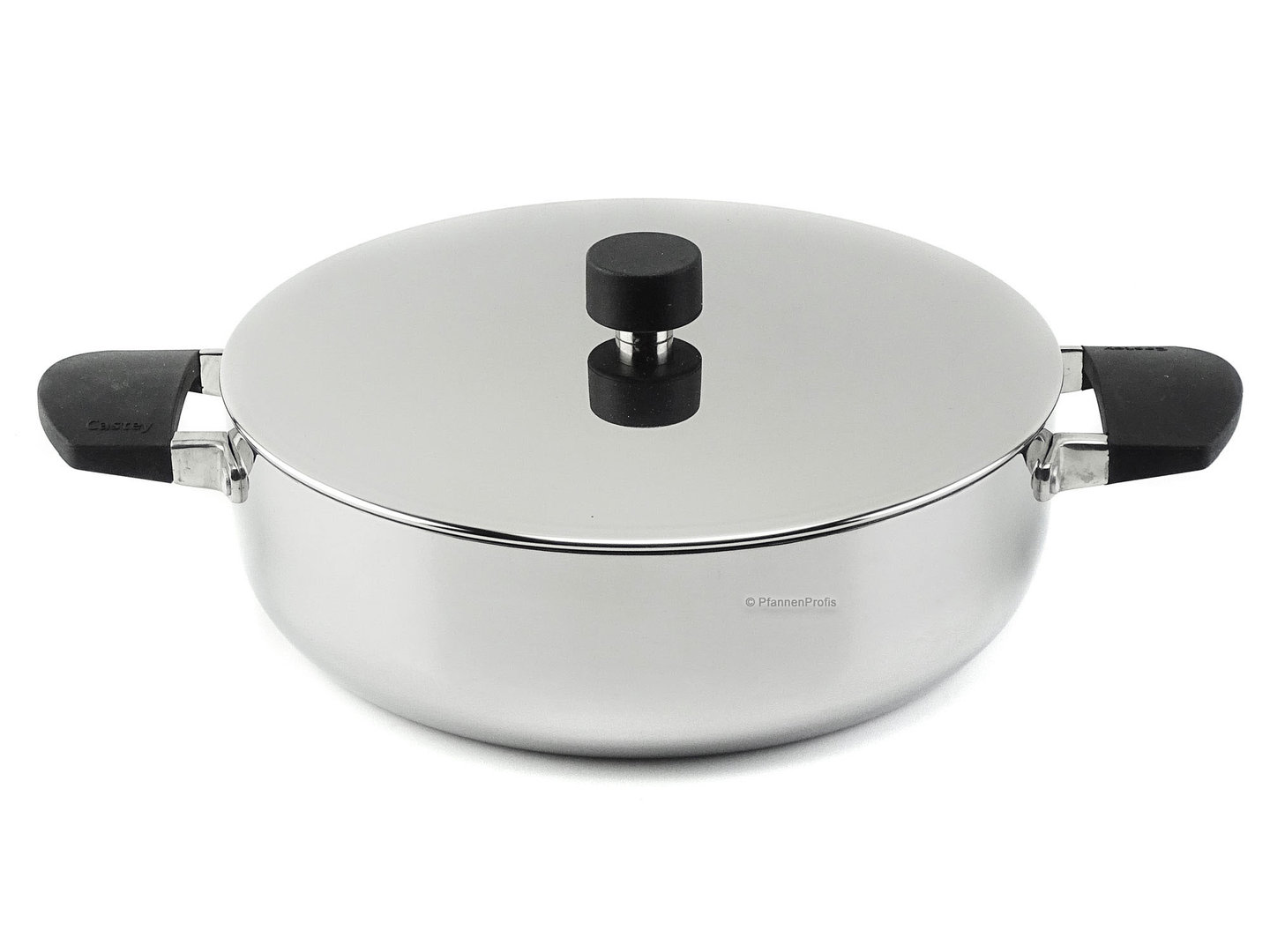 CASTEY 3-ply stainless steel shallow casserole BALTIC 28 cm uncoated with lid